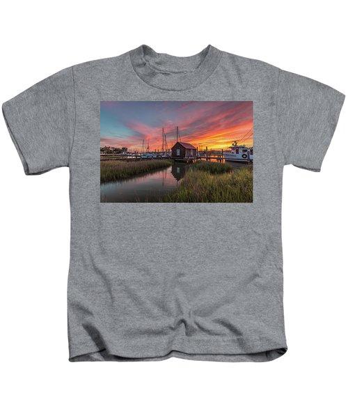 Colors Of Shem Creek - Mt. Pleasant Sc Kids T-Shirt