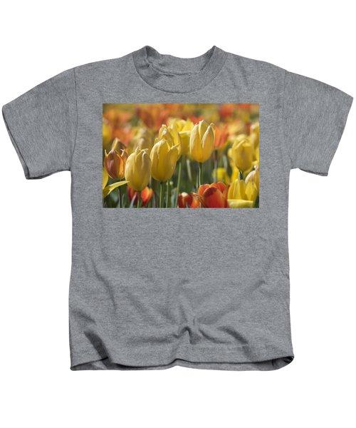 Coming Up Tulips Kids T-Shirt