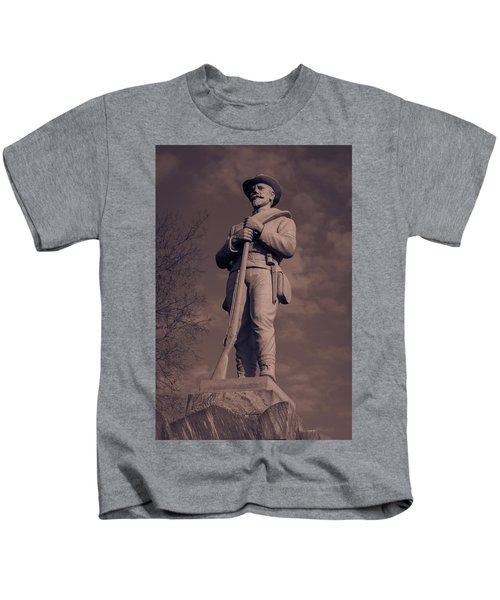 Confederate Statue  Standing Guard Kids T-Shirt