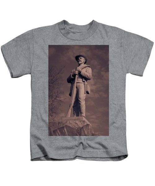 Confederate Statue  Standing Guard Kids T-Shirt