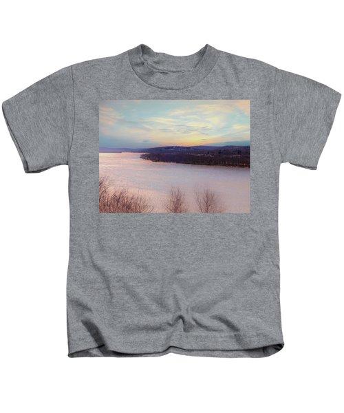 Connecticut River View From Gillette Castle. Kids T-Shirt