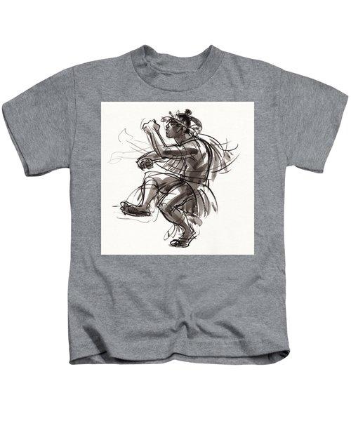 Cook Islands Male Dancer Kids T-Shirt