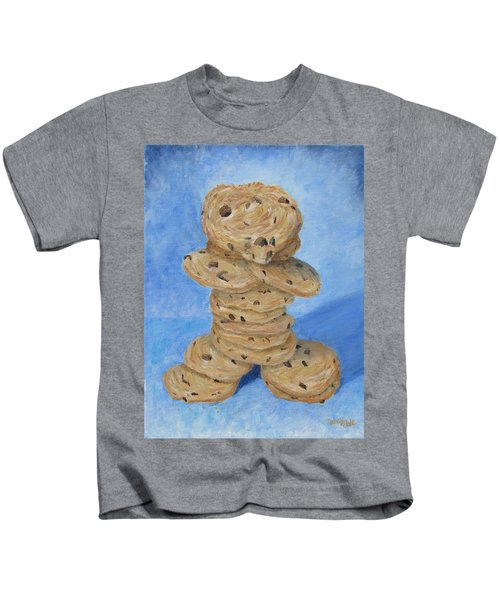 Kids T-Shirt featuring the painting Cookie Monster by Nancy Nale