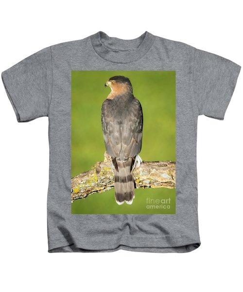 Cooper's Hawk In The Backyard Kids T-Shirt