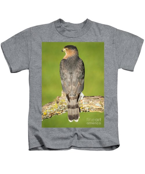 Cooper's Hawk In The Backyard Kids T-Shirt