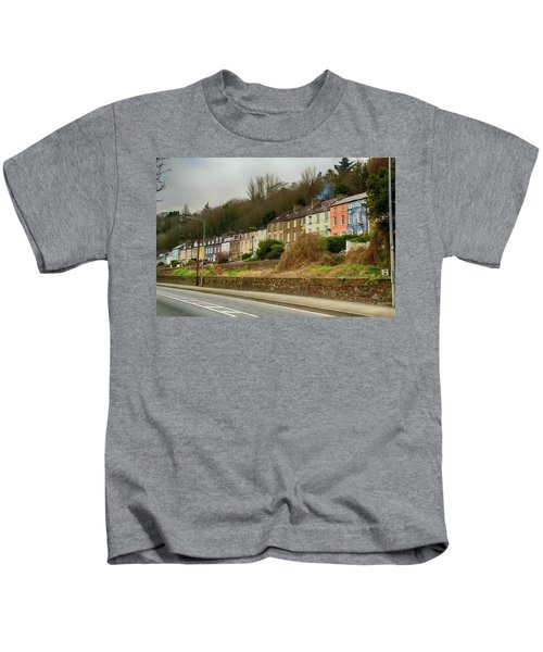 Cork Row Houses Kids T-Shirt