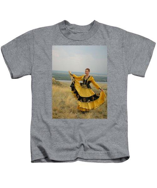 Cossack Young Woman Kids T-Shirt