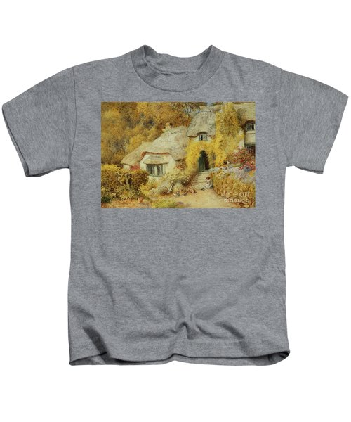 Cottages At Selworthy, Somerset Kids T-Shirt