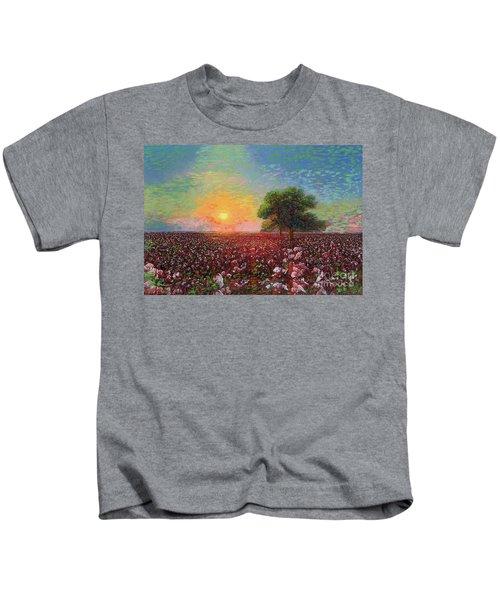 Cotton Field Sunset Kids T-Shirt