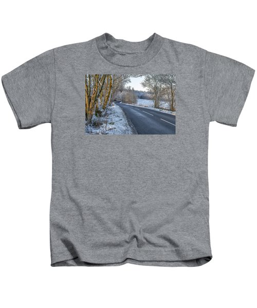 Countryside Road In Central Scotland Kids T-Shirt