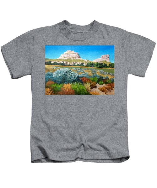 Courthouse And Jail Rocks Acrylic Kids T-Shirt