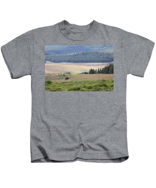 Cow Camp View Kids T-Shirt
