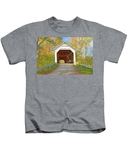 Cox Ford Covered Bridge Kids T-Shirt