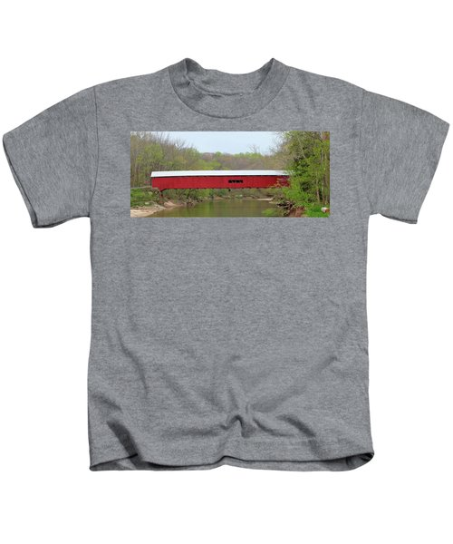 Cox Ford Covered Bridge - Sideview Kids T-Shirt