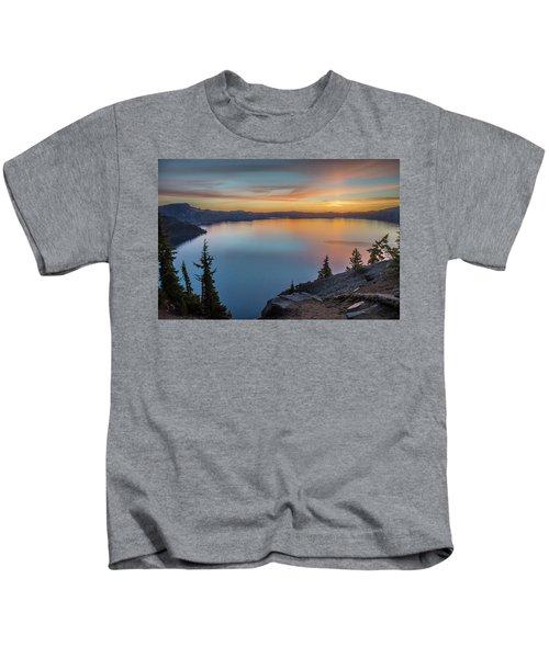 Crater Lake Morning No. 1 Kids T-Shirt