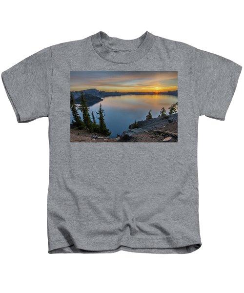 Crater Lake Morning No. 2 Kids T-Shirt