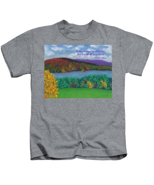 Crisp Kripalu Morning - With Quote Kids T-Shirt