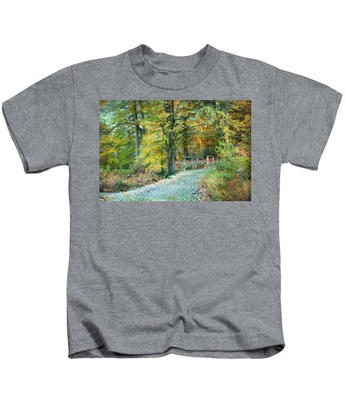 Cross Over The Wooden Bridge Kids T-Shirt