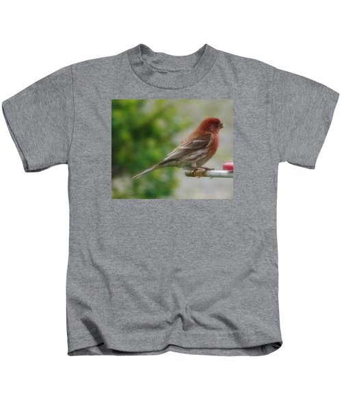 Crossbill Male      Spring      Indiana Kids T-Shirt