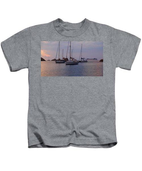 Cruise Liner Passing Kids T-Shirt