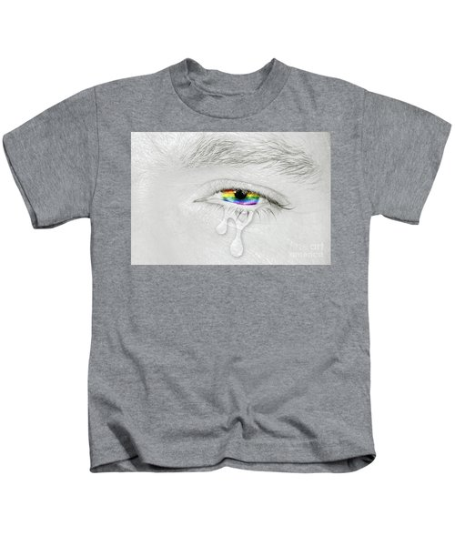 Crying Eye With Rainbow Flag Kids T-Shirt