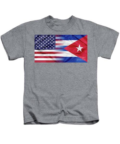 Cuba And Usa Flags Kids T-Shirt