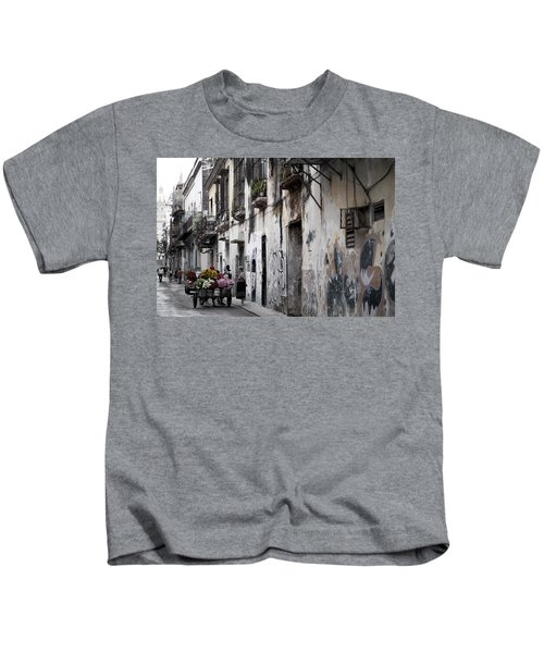 Cuban Flower Vendor Kids T-Shirt