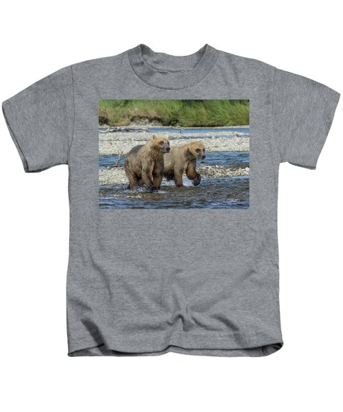 Cubs On The Prowl Kids T-Shirt