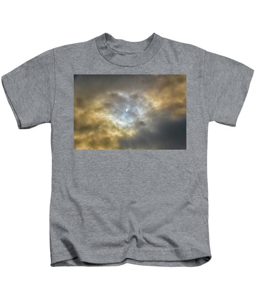 Curtain Of Clouds Eclipse Kids T-Shirt
