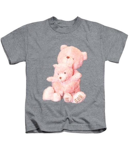 Cutout Hugging Bears Kids T-Shirt