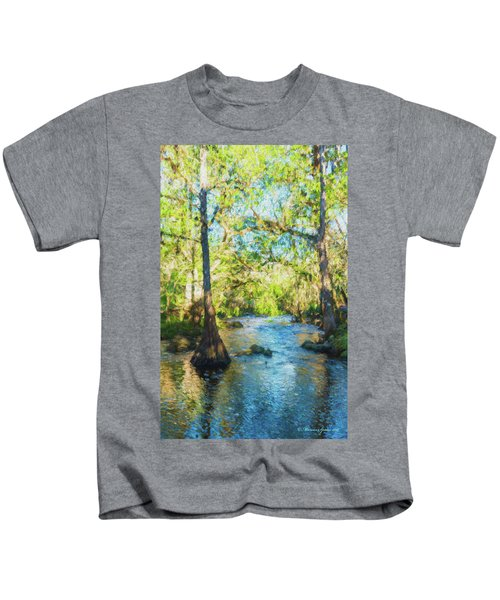 Cypress Trees On The River Kids T-Shirt