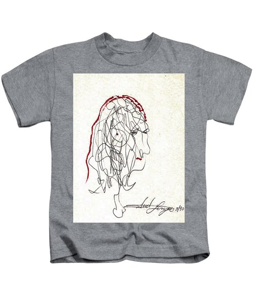 Da Vinci Drawing Kids T-Shirt