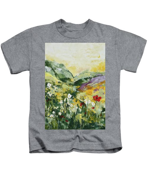 Daisies And Poppies Kids T-Shirt