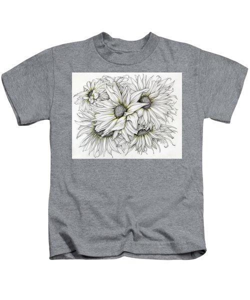 Sunflowers Pencil Kids T-Shirt