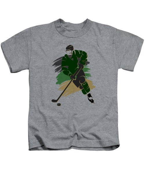 Dallas Stars Player Shirt Kids T-Shirt by Joe Hamilton