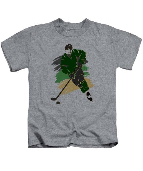 Dallas Stars Player Shirt Kids T-Shirt by Joe Hamilton