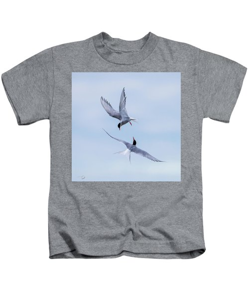 Dancing Arctic Terns Kids T-Shirt