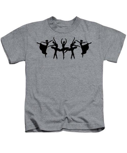 Dancing Ballerinas Silhouette Kids T-Shirt