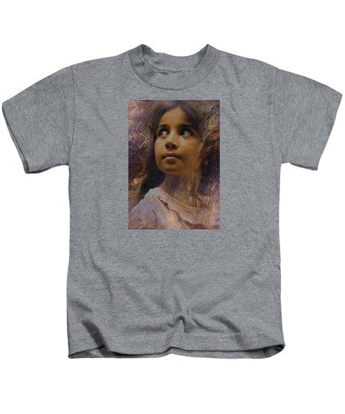 Dark Eyed Beauty Kids T-Shirt