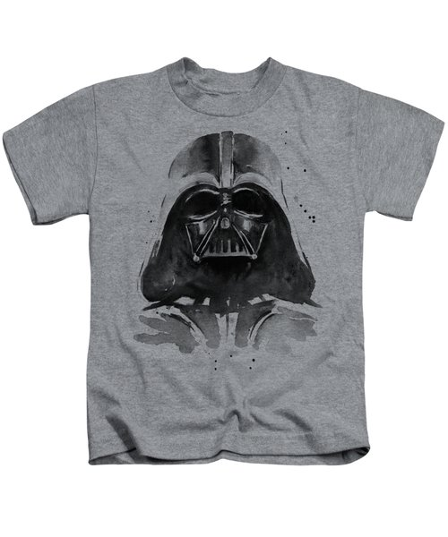 Darth Vader Watercolor Kids T-Shirt