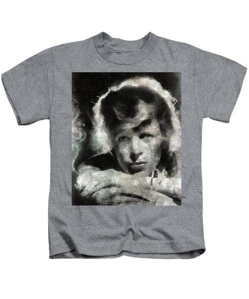 David Bowie By Mary Bassett Kids T-Shirt