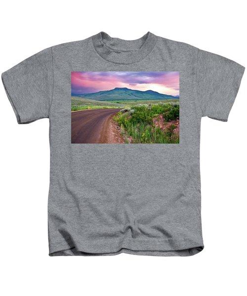 Dawn At Flattop Mountain Kids T-Shirt