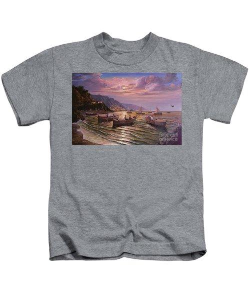 Day Ends On The Amalfi Coast Kids T-Shirt