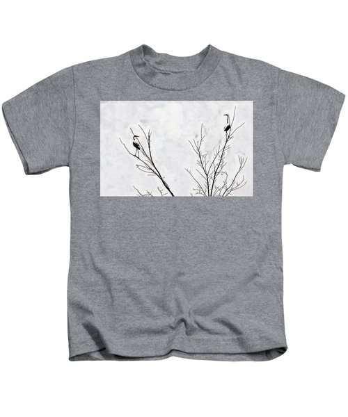 Dead Creek Cranes Kids T-Shirt