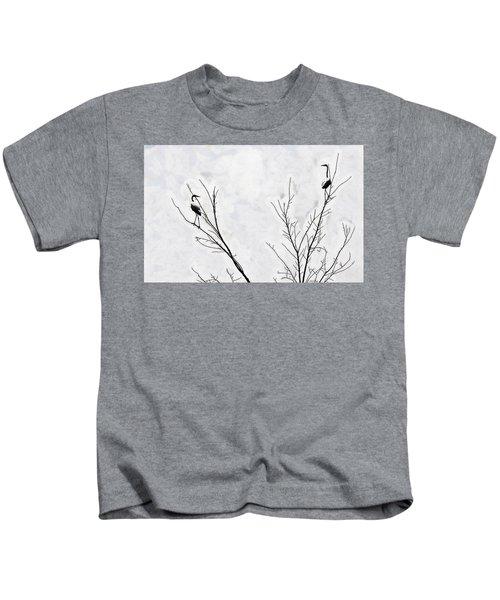 Dead Creek Cranes Kids T-Shirt