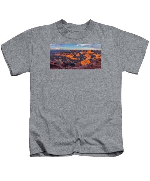 Dead Horse Point Sunrise Panorama Kids T-Shirt