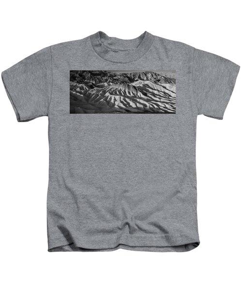 Death Valley Erosion B W Kids T-Shirt
