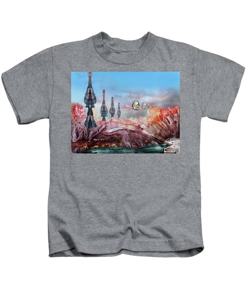 Decalcomaniac Transmission Towers Kids T-Shirt