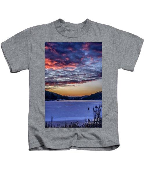 December Dawn On The Lake Kids T-Shirt