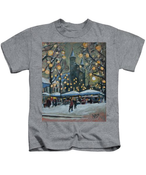 December Lights At The Our Lady Square Maastricht 2 Kids T-Shirt